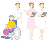 Nurse. Set of nurse illustrations Royalty Free Stock Photo