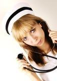 Nurse. Portrait against white background Royalty Free Stock Photography