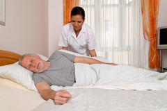 Nurse in aged care Stock Photography