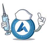 Nurse Ardor coin character cartoon. Vector illustration Stock Photo