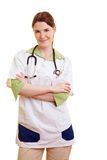Nurse with arms crossed Stock Image