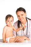 Nurse and a baby Royalty Free Stock Images