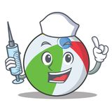 Nurse ball character cartoon style Stock Photo