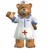 Nurse Bear Royalty Free Stock Images