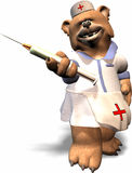 Nurse Bear. A female bear in a nurse outfit Royalty Free Stock Photos