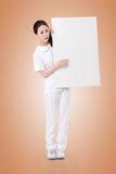 Nurse with blank board Royalty Free Stock Image