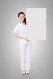 Nurse with blank board Stock Image