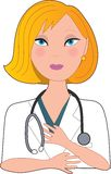 Nurse Blond Stock Image
