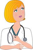 Nurse Blond Left Stock Photo