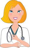 Nurse Blond Smiling Stock Photos