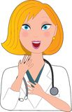 Nurse Blond Surprised Royalty Free Stock Photography