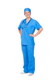 Nurse in blue uniform Royalty Free Stock Photos