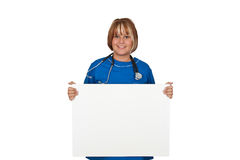 Nurse with board Royalty Free Stock Photo