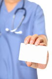 Nurse business card Stock Photography
