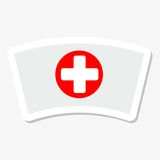 Nurse cap icon sticker Royalty Free Stock Image