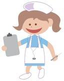 Nurse cartoon. Isolated illustrated nurse working cartoon royalty free illustration