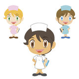 Nurse ,cartoon character, vector illustration Stock Images