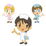 Nurse ,cartoon character, vector illustration Royalty Free Stock Photo