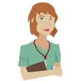 Nurse. Cartoon image of a nurse ready to visit her patients Stock Photos