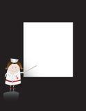Nurse Character And Blank Sheet