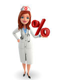 Nurse Character with  percentage Stock Images