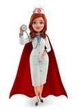 Nurse Character with super doctor Royalty Free Stock Photography
