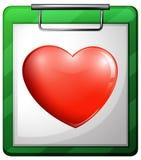 A nurse chart with a heart vector illustration