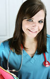 Nurse with Charts Stock Photography