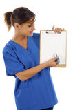 Nurse with Clipbard Royalty Free Stock Images