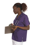 Nurse With A Clipboard Royalty Free Stock Images