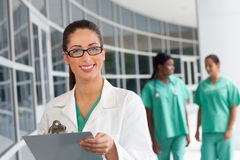 Nurse with clipboard Stock Image