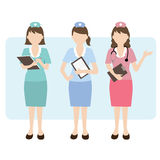 Nurse with clipboard. Vector illustration of nurses with clipboard Stock Illustration