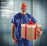 Nurse clown Royalty Free Stock Photo