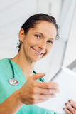 Nurse with computer tablet Royalty Free Stock Images