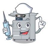 Nurse copier machine isolated in the cartoon. Vector illustration royalty free illustration