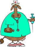 Nurse Cow royalty free illustration