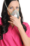 Nurse with CPR Mask Stock Photography
