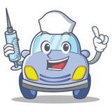 Nurse cute car character cartoon Royalty Free Stock Photo