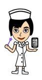 Nurse cute. Nurse in future will use Hi-tech to help patient Stock Photography