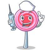 Nurse cute lollipop character cartoon. Vector illustration Stock Images