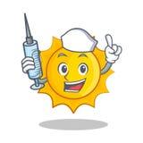 Nurse cute sun character cartoon Stock Image