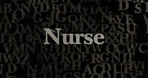 Nurse - 3D rendered metallic typeset headline illustration Royalty Free Stock Photos