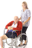 Nurse with disabled elderly patient Stock Photo