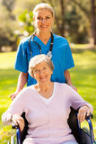 Nurse disabled patient Royalty Free Stock Image