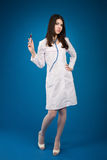 Nurse with a disposable syringe Royalty Free Stock Image