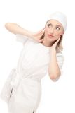 Nurse or Doctor. Portrait of the nurse or doctor, Studio Shot Royalty Free Stock Images