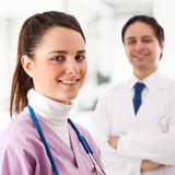 Nurse and doctor Stock Images