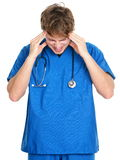Nurse / doctor headache and stress Royalty Free Stock Photo