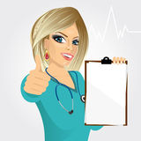 Nurse, doctor, healthcare and medicine Royalty Free Stock Photos