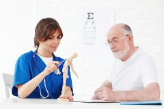Nurse and doctor Stock Image